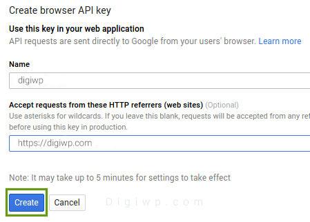 API key for Google Map