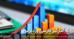 افزونه آمارگیر فارسی وردپرس