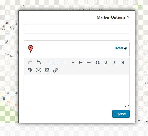 ایجاد نشانگر برای نقشه
